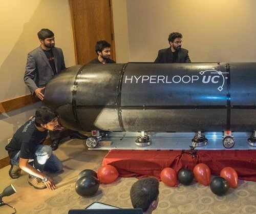 Hyperloop model achieves quarter-inch of magnetic levitation