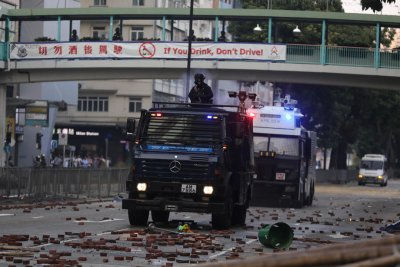 Hong Kong students trapped on university campus amid clashes with police