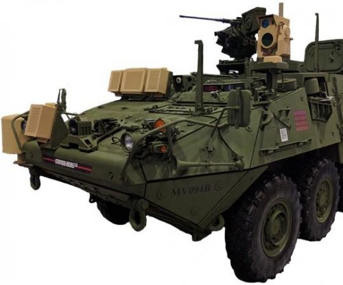 U.S. Army demos laser weapon with Stryker vehicle