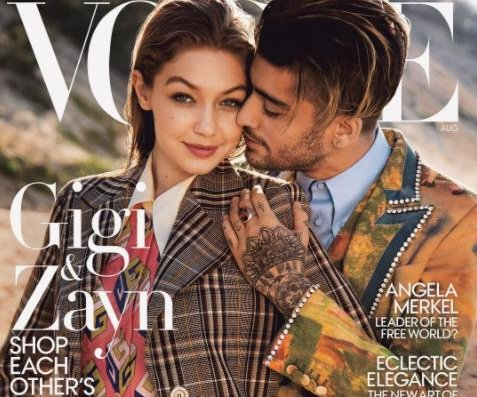 Gigi Hadid, Zayn Malik embrace gender fluidity on Vogue cover