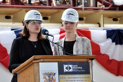 Keel laid for future USS Richard M. McCool amphibious transport dock ship