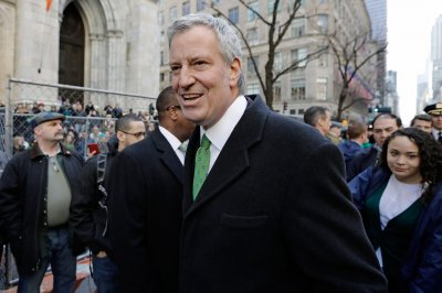 New York Mayor Bill de Blasio bans booze ads on city property