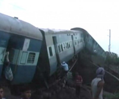 Flash flood triggers train derailment in India, killing at least 29