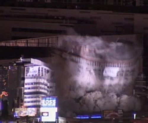 Riviera Hotel and Casino's Monte Carlo tower in Las Vegas demolished