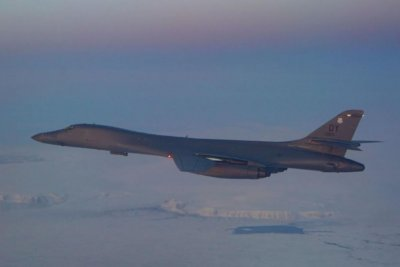 B-1B Lancers fly over North Pole, join Norway's air force in training