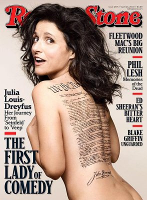Julia Louis-Dreyfus covers Rolling Stone naked