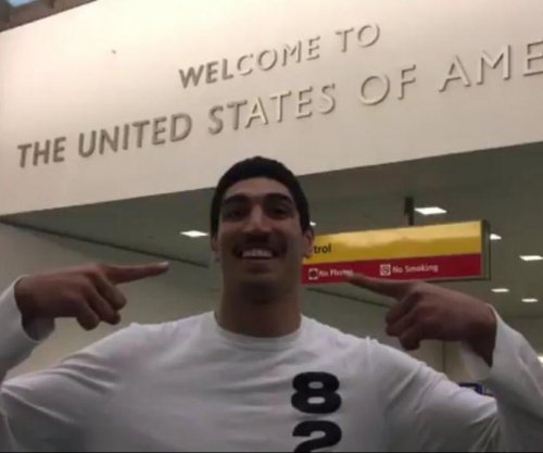 Oklahoma City Thunder's Enes Kanter back in U.S. after being detained in Romania