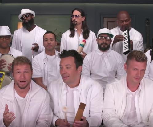 Backstreet Boys, Fallon perform with classroom instruments