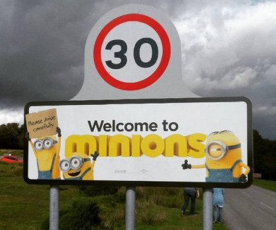 'Minions' sign at village of same name taken down amid picture safety concerns