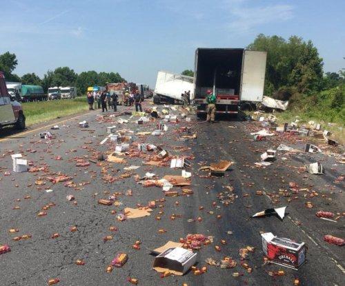 Truck crash scatters Fireball whiskey across Arkansas highway