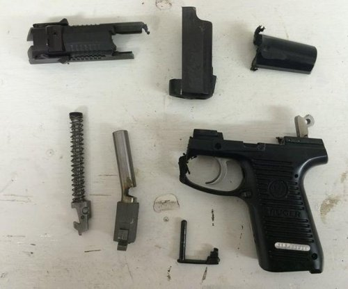 'Responsible gun owner' destroys his handgun to make a point