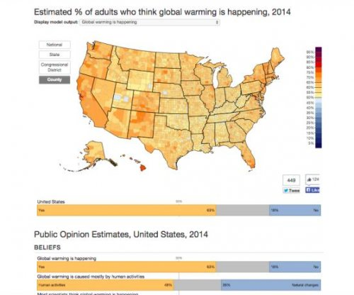 New interactive map plots public opinion on climate change