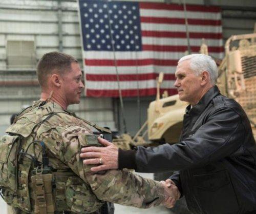 Pence surprises U.S. troops in first Afghan visit as VP