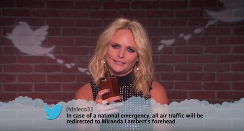 Miranda Lambert, Little Big Town and Dolly Parton read mean tweets on 'Jimmy Kimmel Live'