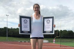 British scientist breaks two Guinness records for gymnastics