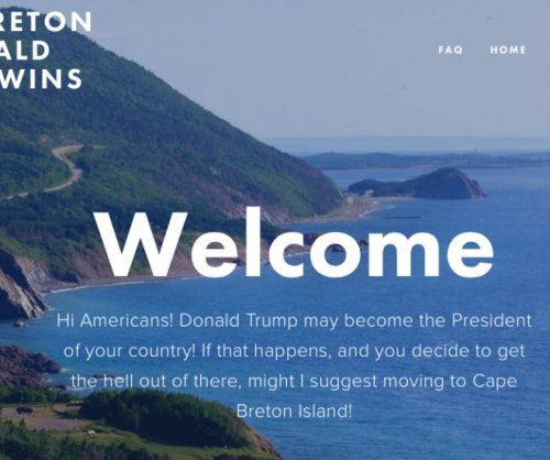 Canadian island welcomes Americans in event of Trump victory