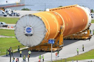 NASA moves huge SLS moon rocket to prepare for lunar mission