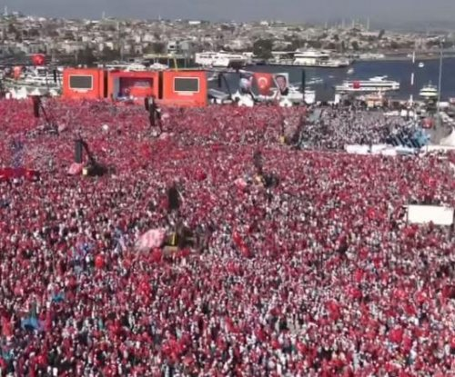 Turkish President Tayyip Erdogan, opposition unite in massive rally