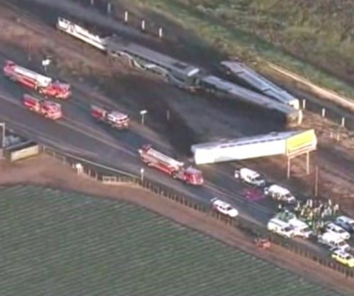 Train collides with truck in California, 30 injured
