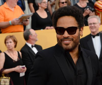 Lenny Kravitz suffers wardrobe malfunction in Sweden