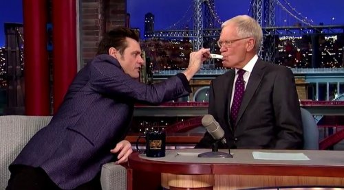 Jim Carrey tests David Letterman for Ebola on 'Late Show'