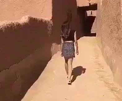 Saudi woman in short skirt arrested