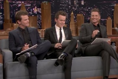 Rob Lowe's kids compete for 'Best Son' on 'Tonight Show'
