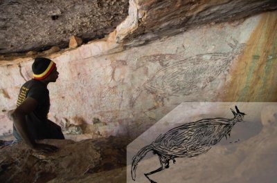Kangaroo portrait is Australia's oldest rock painting