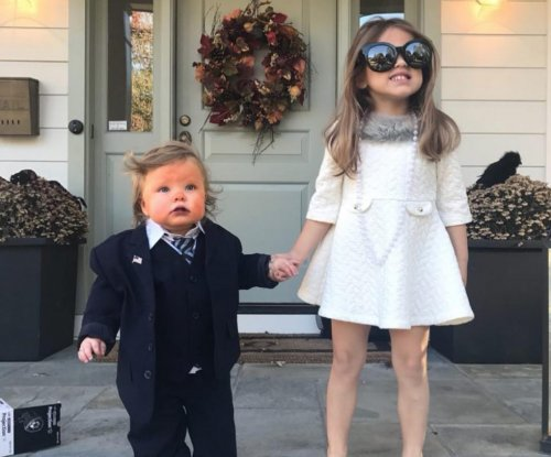 T.J. Oshie's toddler daughter was Donald Trump for Halloween