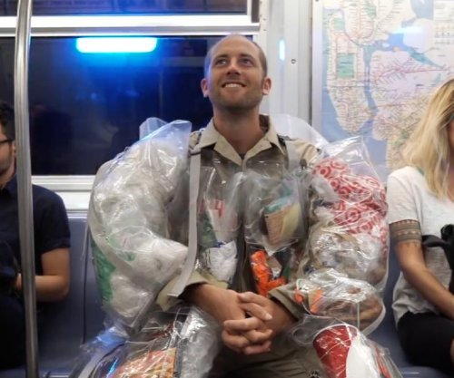 Man promises to wear all of the trash he produces for 30 days