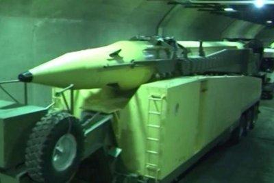 Iran shows off underground ballistic missile bunker