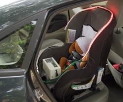 Seat accessory designed to save infants from hot cars