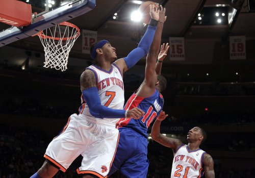 Carmelo Anthony out because of groin injury