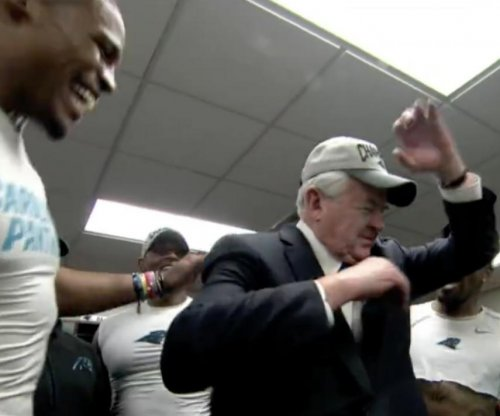 Carolina Panthers owner does the dab