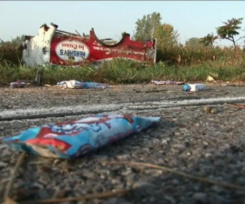 Not so sweet: Crash covers road in ice cream treats