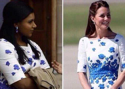 Kate Middleton stole Mindy Kaling's look