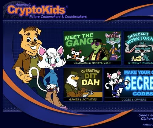 The NSA has a children's website with games and cartoon characters