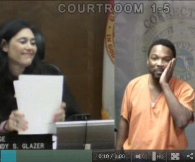 Judge, former classmate have emotional reunion in court