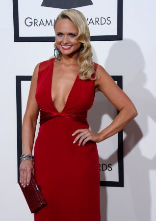 Miranda Lambert wears plunging red to the Grammy Awards