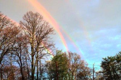 New York woman photographs ultra-rare quadruple rainbow