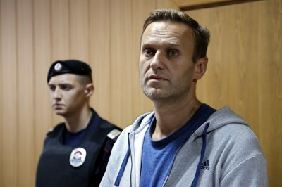 Russian opposition leader Navalny ordered detained for a month