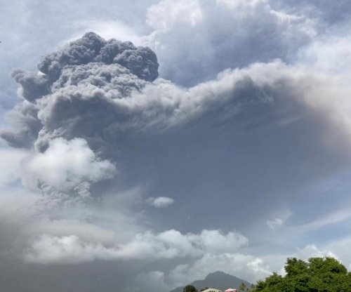 St. Vincent volcano in Caribbean erupts again in large explosion