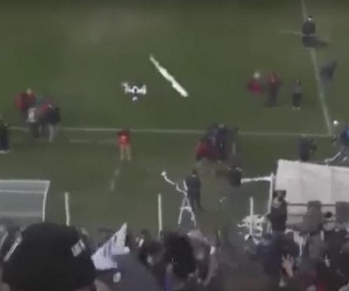 Soccer fan knocks drone out of air with toilet paper roll