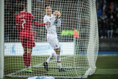Portugal's Cristiano Ronaldo nets international goal No. 99