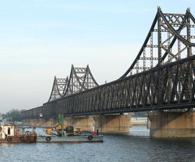 North Korea celebrations not on display at China border