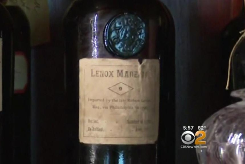 Museum knocks down century-old wall, finds 221-year-old wine