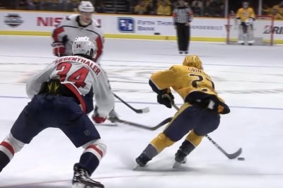 Preds' Rocco Grimaldi gives Caps spin treatment on whipping goal