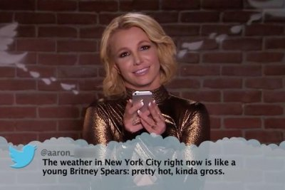 Britney Spears, Katy Perry read 'Mean Tweets' about themselves on Jimmy Kimmel