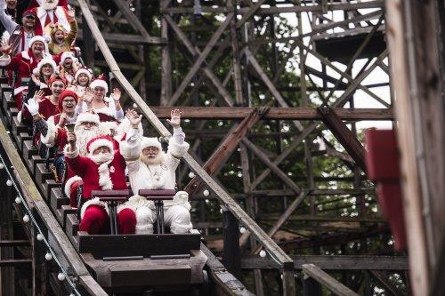 Hundreds of Santas gather in Denmark for World Santa Claus Congress