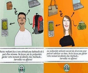 Starbucks ditches poster considered racist